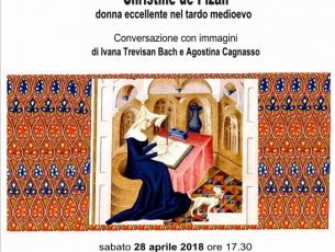 Christine de Pizan: sabato 28 aprile, al Labirinto, conversazione con immagini 'su una donna eccellente' a cura di Eredibibliotecadonne