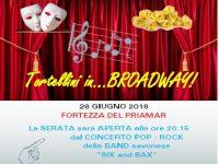 Tortellini in… Broadway!: alla Fortezza del Priamàr spettacolo di varietà per 'Savona nel cuore dell'Africa' e Adso