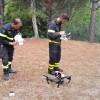 A Perrero arrivano i droni dei Vigili del Fuoco per controllare i focolai