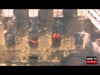 Grosso incendio all'ex merlettificio Turk di Pinerolo