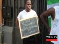 Protestano i giovani nigeriani ospitati a Luserna San Giovanni