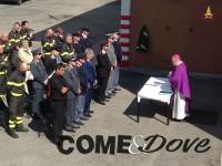 Il Vescovo di Pinerolo in visita al distaccamento dei Vigili del Fuoco