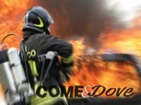 Brucia auto in centro a Pinerolo