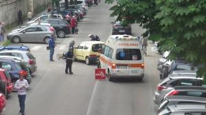 Incidente in centro a Pinerolo