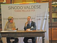 Il Moderatore della, Tavola Valdese, Eugenio Bernardini, intervistato dal direttore della Nev Gian Mario Gillio