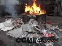 Bruciati rifiuti tossici