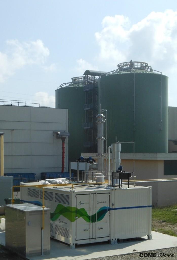 L'impianto di biogas dell'Acea di Pinerolo
