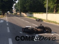 Incidente tra due moto a Pinerolo
