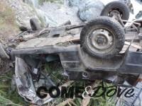 Bobbio Pellice, 4 feriti nell'auto nel burrone