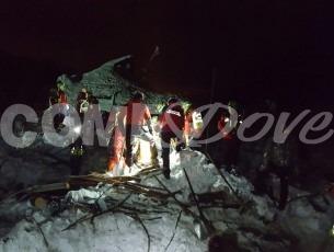 Anche il soccorso alpino del Pinerolese all'hotel Rigopiano