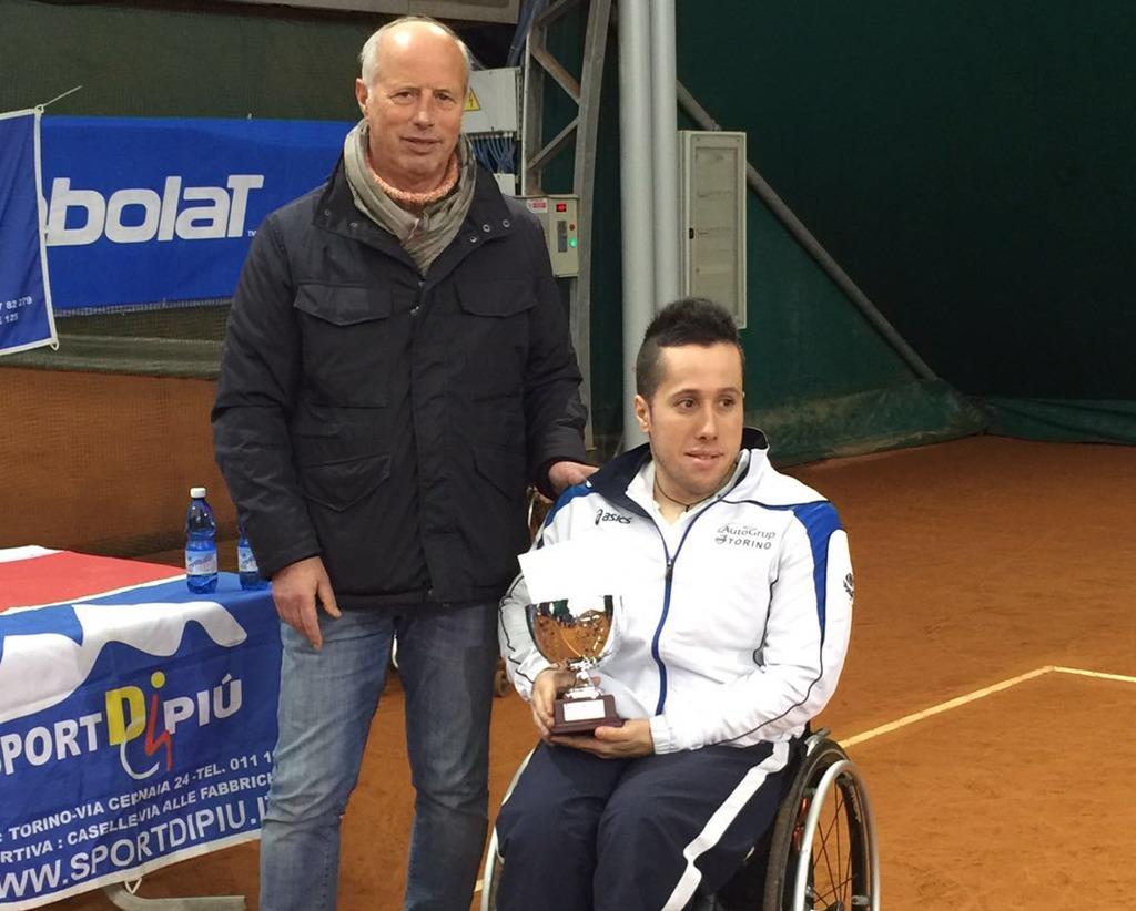A Pinerolo da giovedì a domenica si disputa il torneo nazionale indoor di tennis in carrozzina