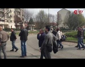 VIDEO | Sit-in dei lavoratori della Pmt