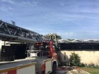 A Cumiana sono arrivati i Vigili del fuoco da Pinerolo, Torino e Giaveno