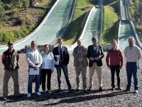 Trampolini olimpici: sopralluogo per le opere di adeguamento