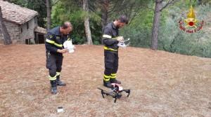 Nella foto di repertorio un drone dei vigili del fuoco