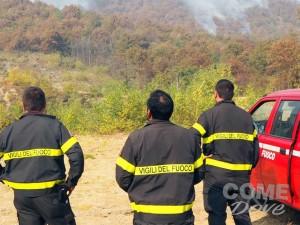 Ancora fuoco nel Pinerolese: gli aggiornamenti di sabato
