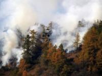 FOTO | Incendio boschivo a Perrero, ancora al lavoro Vigili del Fuoco e Aib