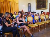 Riunione dei genitori in sala di rappresentanza del Comune