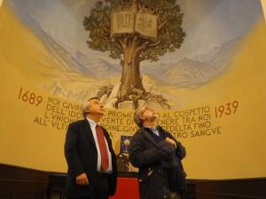 il direttore  della Stampa con il moderatore della Tavola valdese