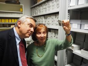 Gabriella Ballesio mostra le immagini conservate nell'archivio