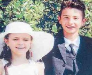Camilla con il fratello Manuele