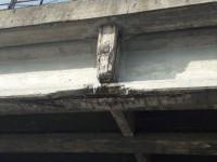 Dopo la caduta di alcune parti in cemento del cavalcavia martedì l'esame dei tecnici
