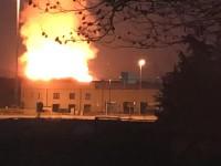 Frossasco: un incendio ha devastato il deposito di legname dell'Annovati