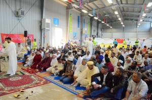A Pinerolo, al Palacurling,  cerimonia di chiusura del Ramadan con la festa Id Al Fitr