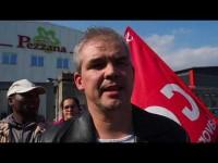 VIDEO | Agitazione sindacale davanti ai cancelli del caseificio Pezzana di Frossasco