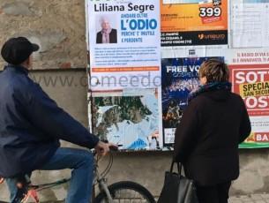 Manifesti a Cercenasco a sostegno di Liliana Segre e una lettera firmata dai sindaci in Val Pellice