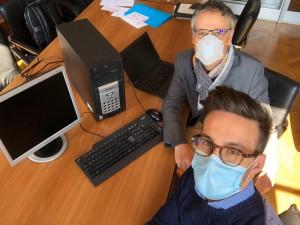 Loris Ferrero in secondo piano con Stefano Bordino