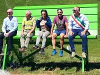 FOTO   Una panchina gigante a Pian dell'Alpe, ad Usseaux
