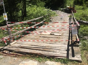 pragelato ponte chiuso