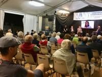 Elly Schlein, vicepresidente della Regione Emilia Romagna in video conferenza