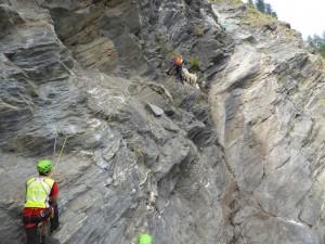 Nelle immagini del Soccorso Alpino una fase del salvataggio