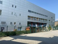 La struttura olimpica dello stadio del ghiaccio di Pinerolo