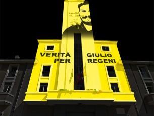 La torre del municipio di Pinerolo si tinge di giallo per Regeni