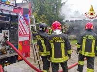 Campiglione Fenile, incendio in un maneggio